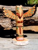 Hand Carved Wood Totem - Eagle