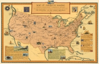Map of America's Making 11x17 Poster