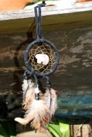 Dream Catcher with Totem Bear Stone Pendant (2 inch)