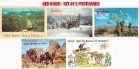 Red River, NM - Set of 5 Postcards
