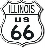 Illinois Route 66 Road Tin Sign