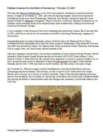 Battle of Chattanooga, Tennessee Summary (Download)