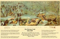 Route of the Mormon Pioneers 11x17 Poster