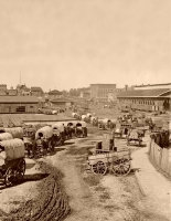 Federal Army at the Atlanta Depot, 1864