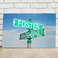 Color Street Sign Canvas - 24x18  (Personalized)