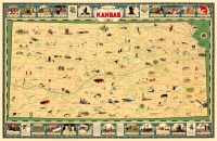 Kansas Pictorial Map 11x17 Poster