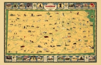 Pictoral Map of Kansas 11x17 Poster