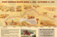 Pony Express Route 11x17 Poster