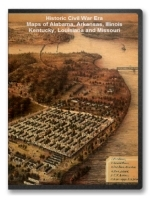 Alabama, Arkansas, Illinois, Kentucky, Louisiana Civil War Maps CD