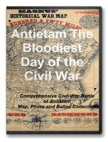 Battle of Antietam Civil War Map, Photo and Ballad Collection CD
