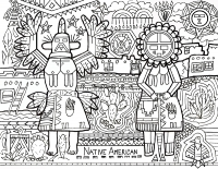 Pueblo People - Coloring Article (Download)