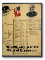 Mississippi Civil War Maps CD