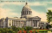 Jefferson City, Missouri Capitol Postcard