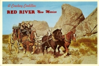 Cowboy Cadillac, Red River, New Mexico Postcard