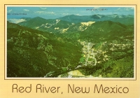 Red River, New Mexico Mountain View Postcard