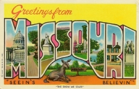 Greetings From Missouri Postcard - 1970s