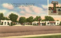 White Way Court, Albuquerque, New Mexico Postcard