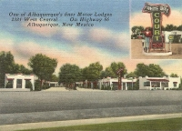 White Way Court, Albuquerque, New Mexico Mini Postcard-Business Card