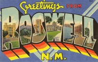 Greetings From Roswell, New Mexico Postcard