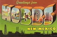 Greetings From Hobbs, New Mexico Postcard