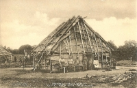 Sac and Fox Bark House Postcard