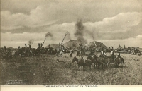 Threshing Wheat in Texas Postcard