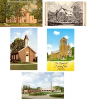 Iowa Churches Postcards - Set of 5