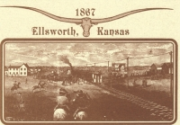 Ellsworth, KS Cattle Buyers Postcard