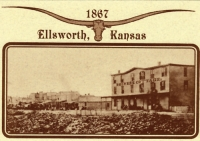 Ellsworth, KS Drovers Cottage Postcard