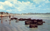 Long Sands, York Beach, Maine Postcard