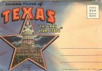 Texas Postcard Souvenir Folder