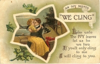 We Cling Postcard
