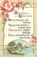 Birthday Greetings Postcard