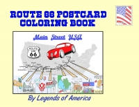 Route 66 Postcard Coloring Book