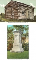 Daniel Boone Birth Place & Monument, Kentucky Postcards - Set of 2