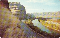 Highway Along the Snake River, Washington Postcard