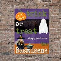 "Personalized Halloween Canvas Sign (18x24"")"