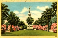 Broadway Blvd, Galveston, Texas Postcard