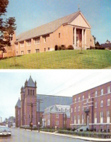 Nashua, New Hampshire Churches Postcard