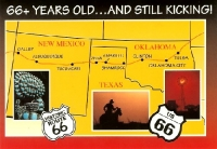 Route 66 - Still Kicking Postcard