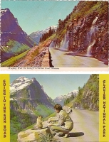 Going to Sun Road, Montana - Set of 2 Postcards