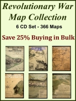 Revolutionary War Map Collection 6 CD Set - 366 Maps in Total