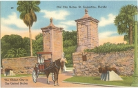 City Gates, St Augustine, Florida Postcard
