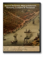 Arkansas, Kentucky, Louisiana & Tennessee 28 City Panoramic Maps on CD