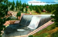 Evergreen Lake Dam, Colorado Postcard