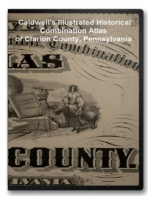 Pennsylvania - Clarion County on CD - Caldwell's Illustrated Atlas