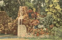 Seminole Indian Wishing Well, Miami, Florida Postcard