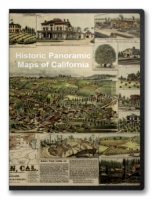 California 51 City Panoramic Maps on CD