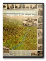 Colorado 26 City Panoramic Maps on CD