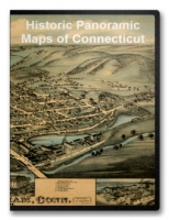Connecticut 54 City Panoramic Maps on CD
